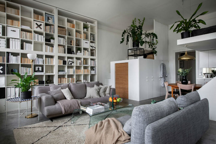 small Scandinavian loft interior design idea 4