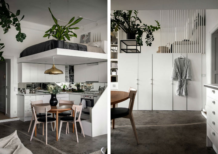 small Scandinavian loft interior design idea 6