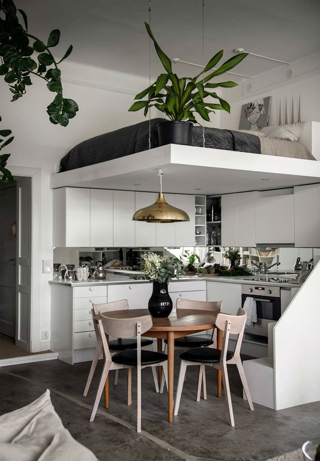 small Scandinavian loft interior design idea 7