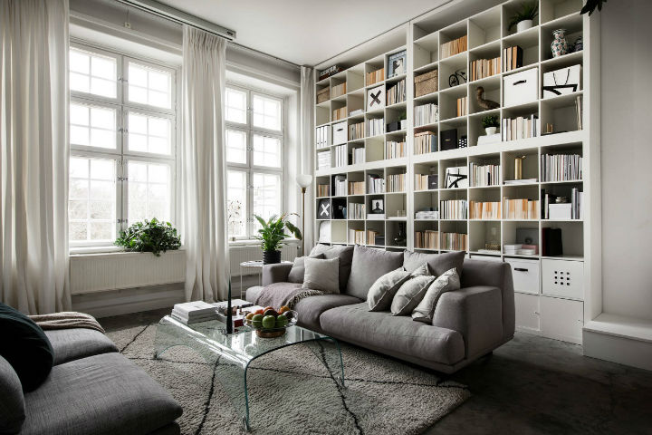 small Scandinavian loft interior design idea 9