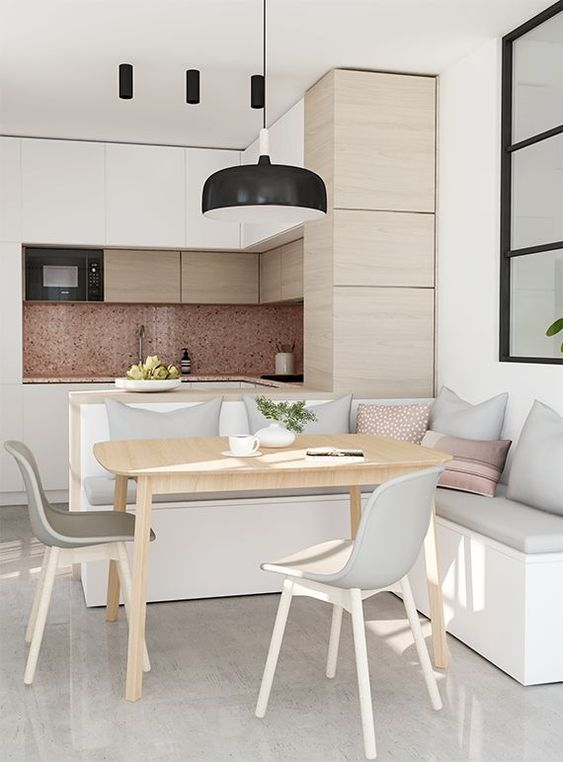 kitchen with dining table design idea 5