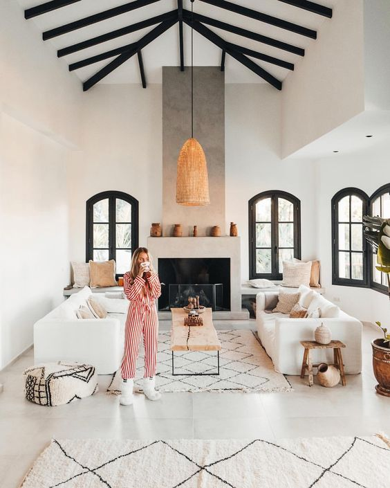 """Instagram - Vlogger couple"" Janni Deler and Jon Olsson simply exudes style. When we jumped into their home update project - we knew it gonna be stunning... Take a sneak peek into their home which was transformed from a traditional Spanish villa to a stunning Ethnic-Scandinavian dream home"