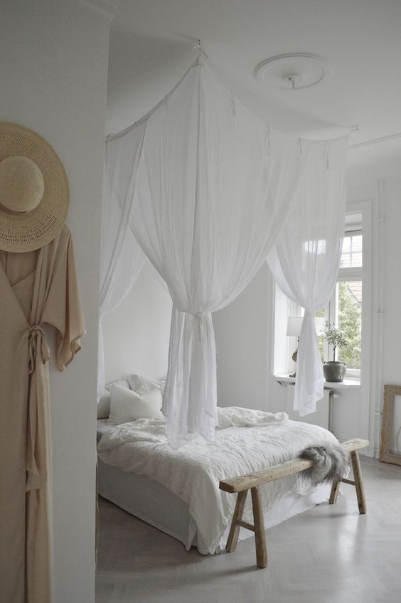 white linens for Good Luck to Your House
