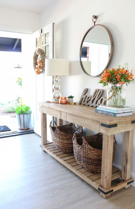 10 Tips for Decorating Your Entryway Console Table Like a ...