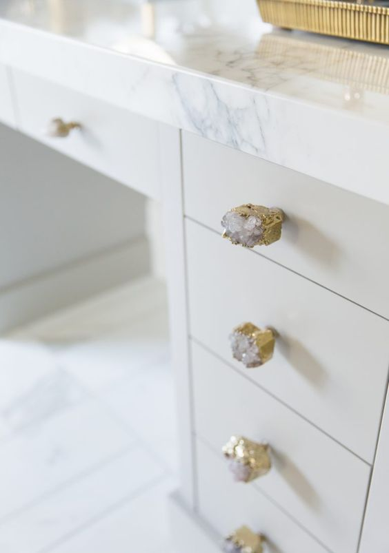 crystal glam drawer handles