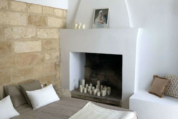 island mediterranean house interior bedroom