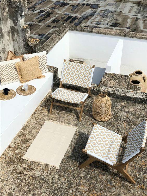 island mediterranean house terrace