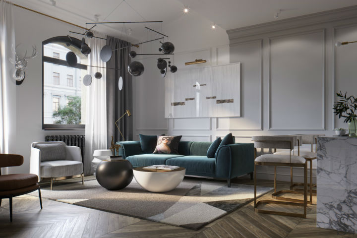 Ultra Glamorous and Sophisticated apartment interior design