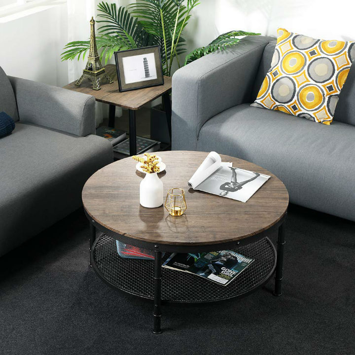 Wood Round Coffee Tables You Ll Love Decoholic