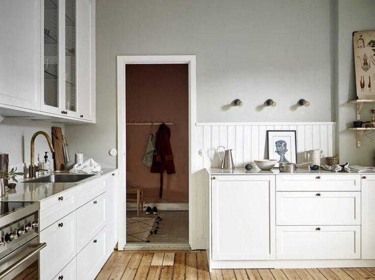 white Scandinavian kitchen design