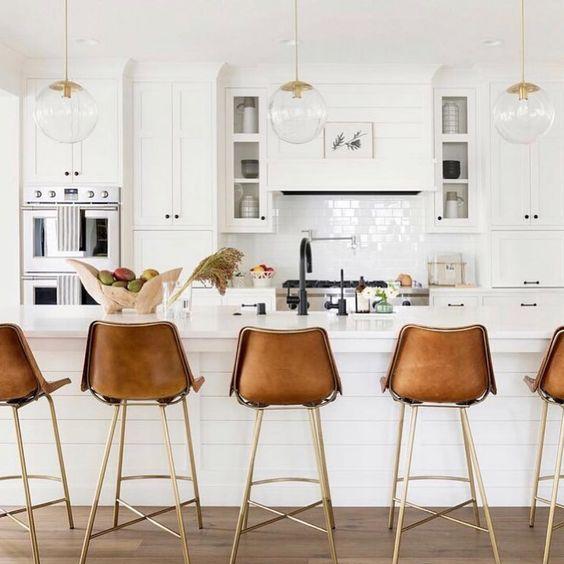 modern farmhouse all white kitchen design