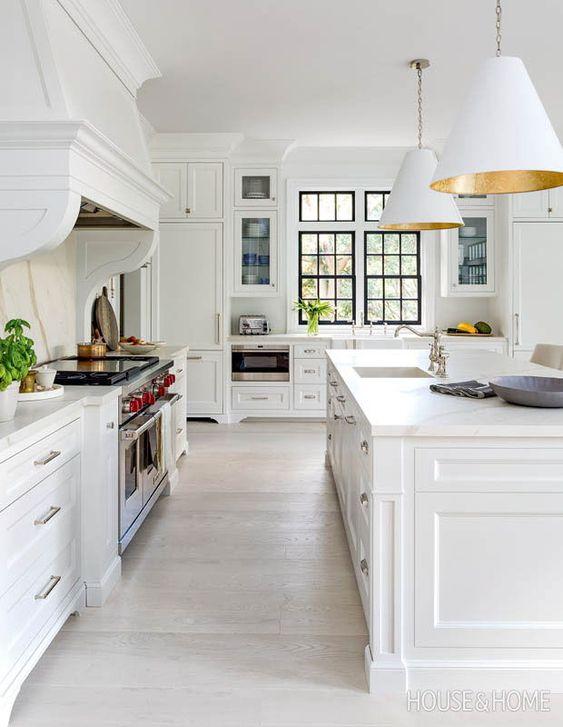 Scandi-Inspired all white kitchen