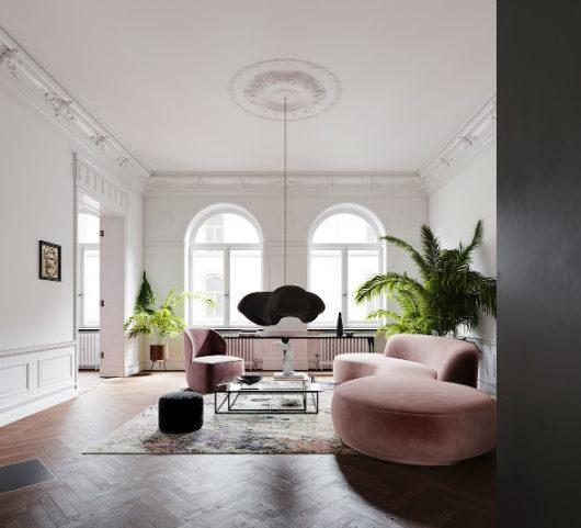 Scandinavian Contemporary interior design To a Classic Space