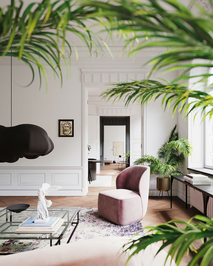Scandinavian Contemporary interior design To a Classic Space 2