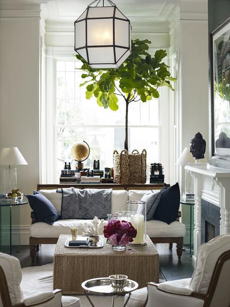 fresh white living room design idea