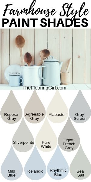 Farmhouse style paint colors and decor