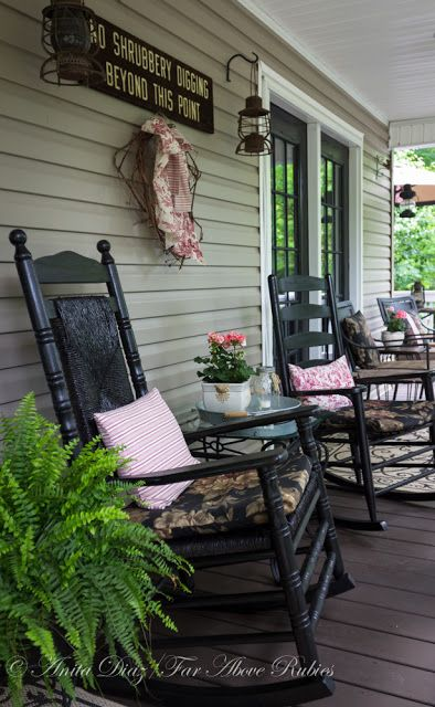 farmhouse Front Porch country Sitting