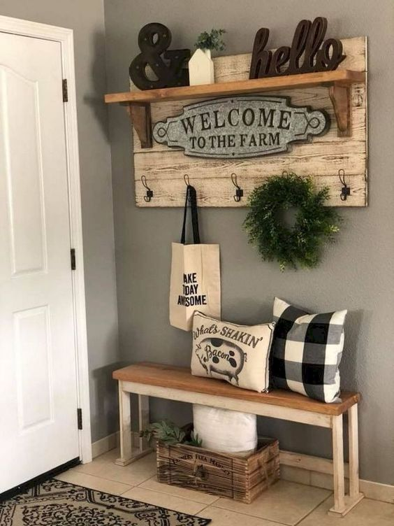 wall farmhouse style decorating idea