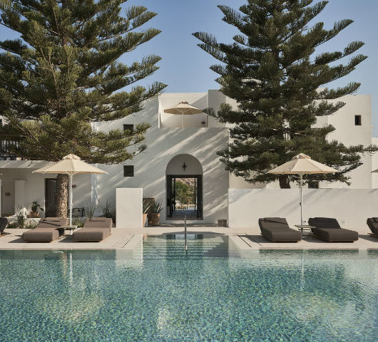 contemporary greek design hotel on Paros