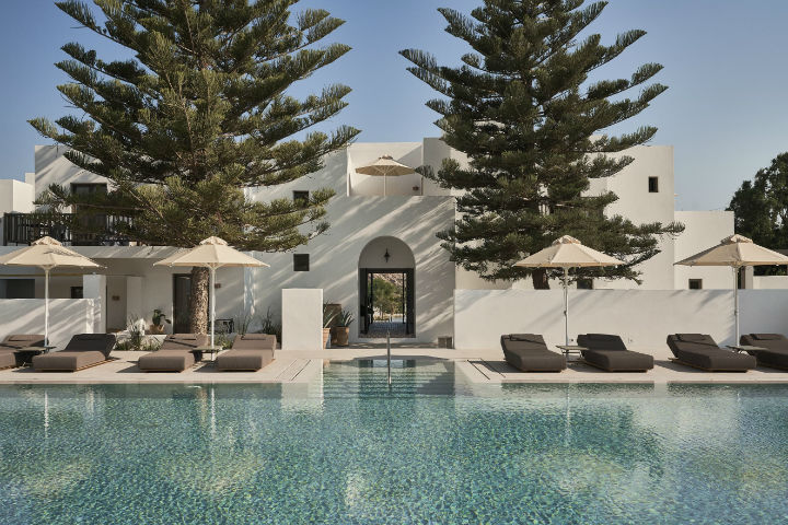 contemporary greek design hotel on Paros