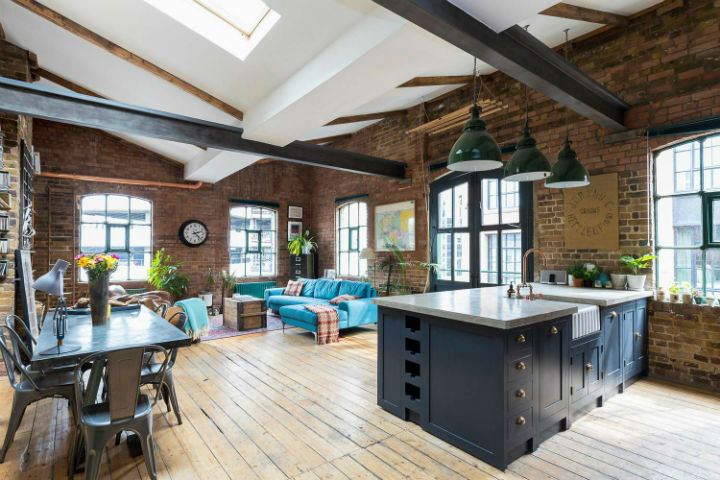 London Warehouse turned into industrial home 2