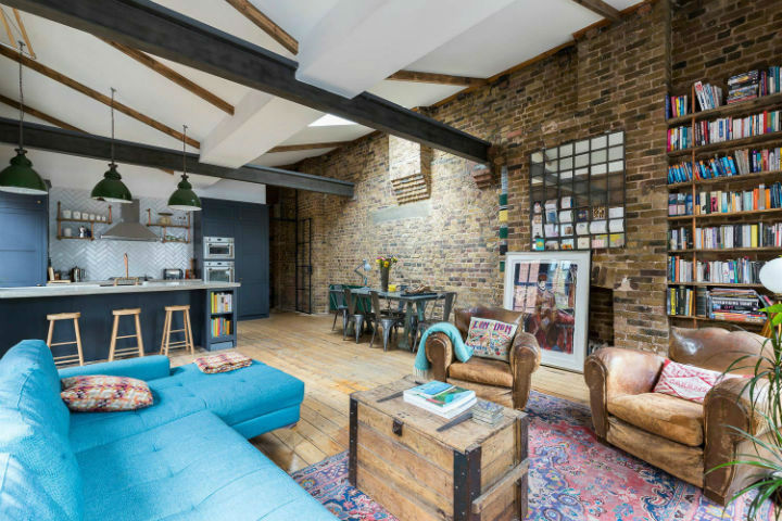 London Warehouse turned into industrial home 4