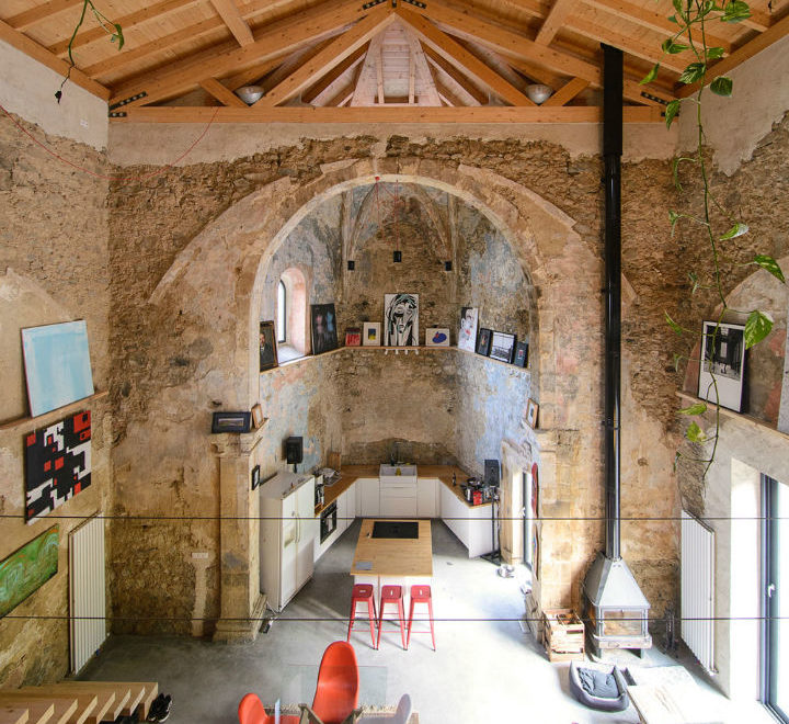 Historic Stone Church Turned Into a Modern Home