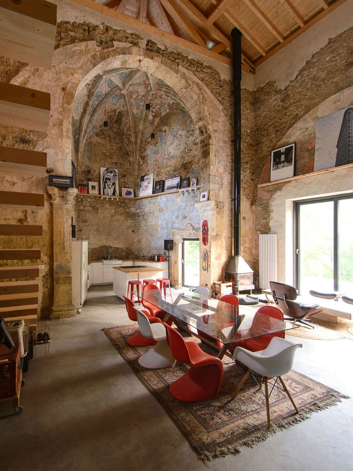 Historic Stone Church Turned Into a Modern Home 2