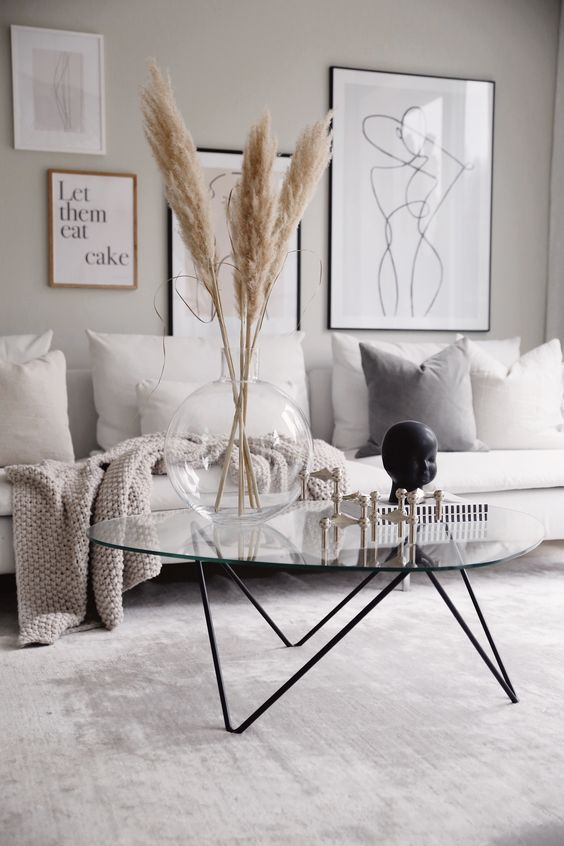 2019 fall living room decorating idea