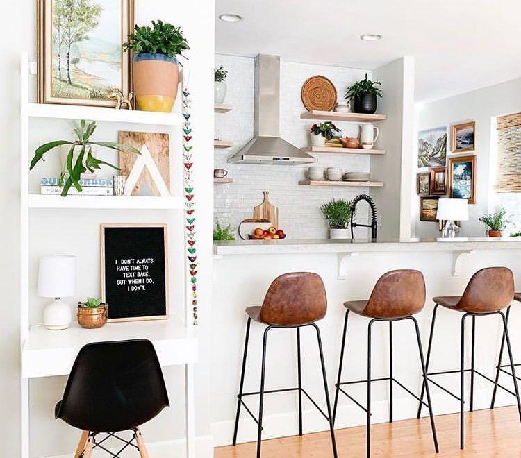 kitchen indoor plants decorating idea