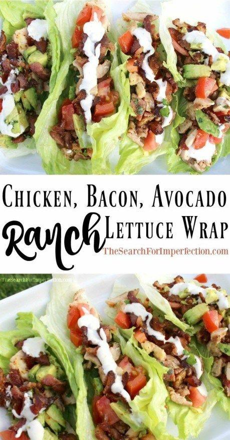 Simple Avocado, Chicken, Bacon Keto Lettuce Wraps