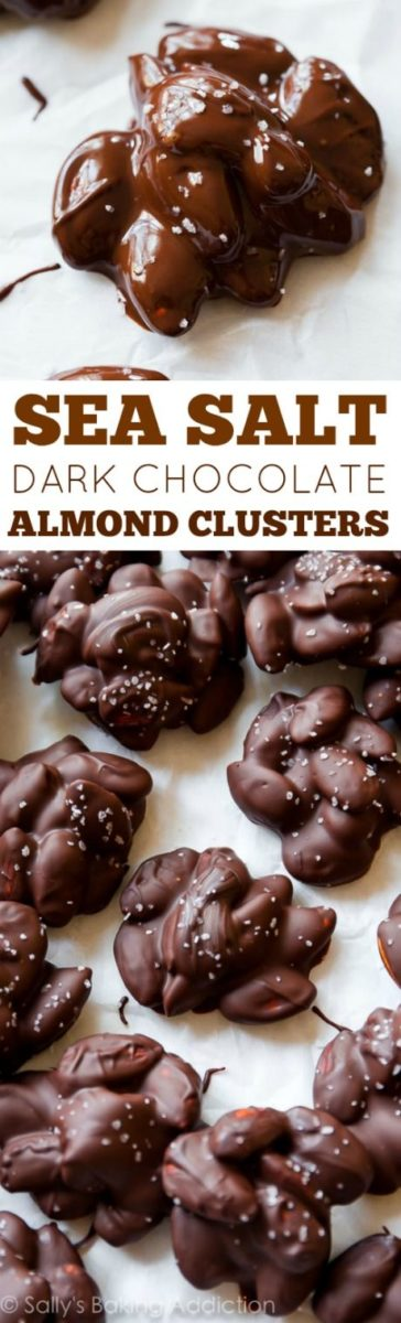 Keto Sea Salt Dark Chocolate Almond Clusters