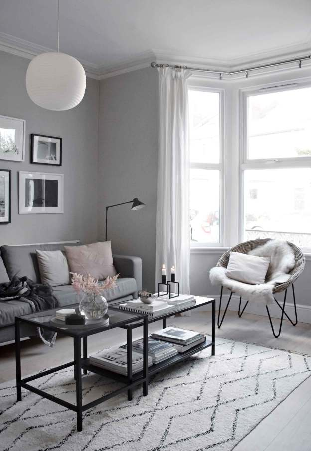 shades of grey in a living room