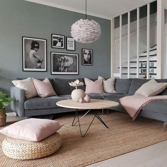 shades of gray used for home decor