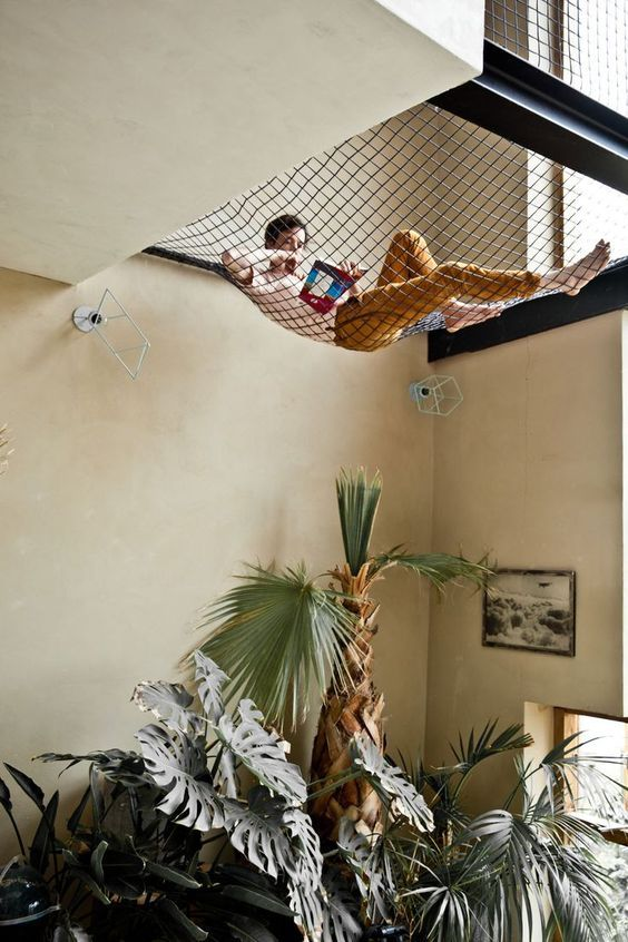 modern indoor hammock for a special home decor