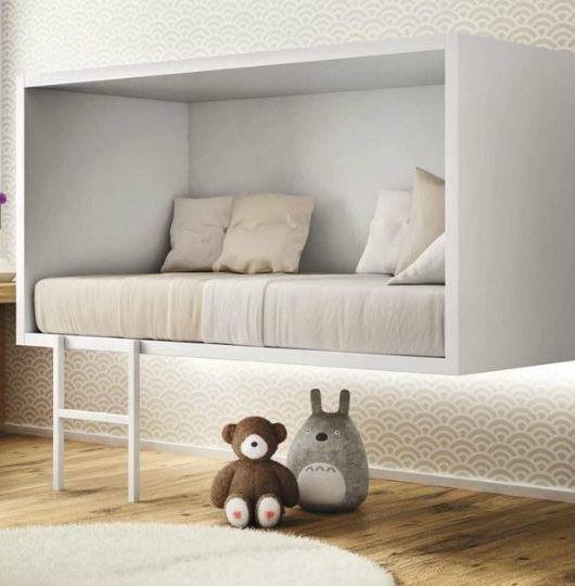 kids modern floating bed 1