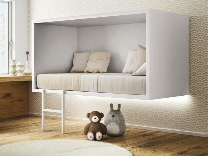 kids modern floating bed 1