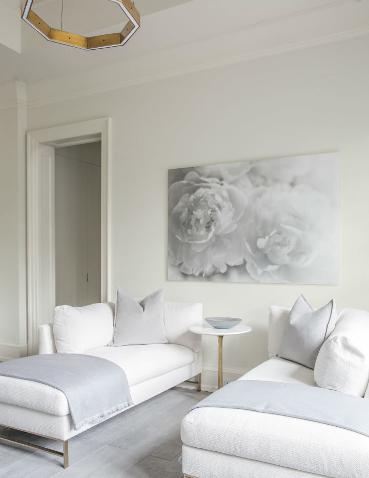 shades of white and grey in pillows and couches