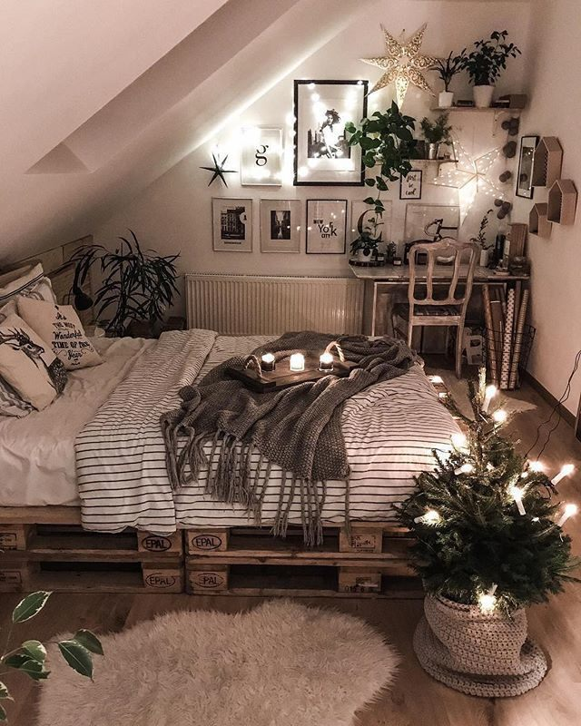 special lighting in a lovely bedroom