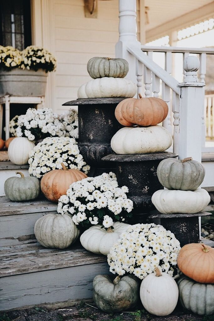 last minute thanksgiving decorations with pumpkins