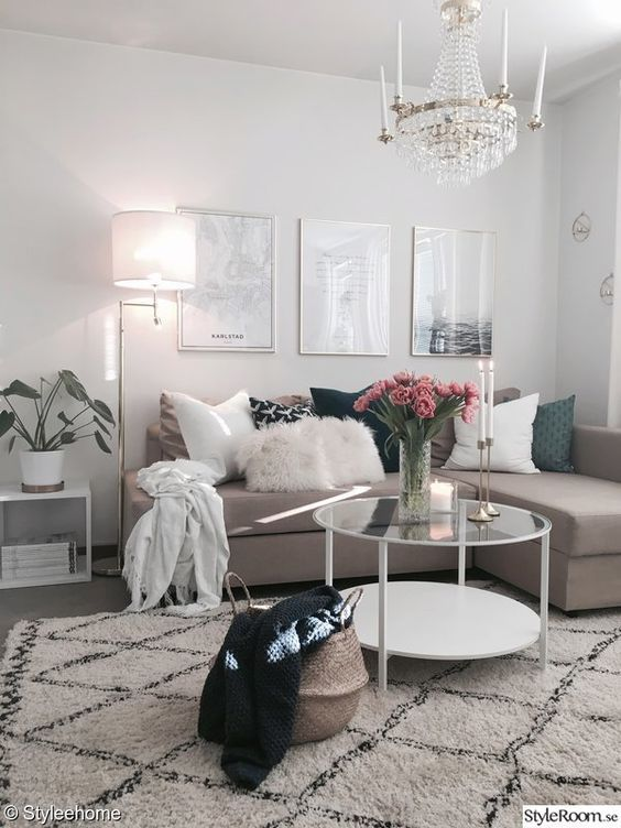 shades of beige in a living room