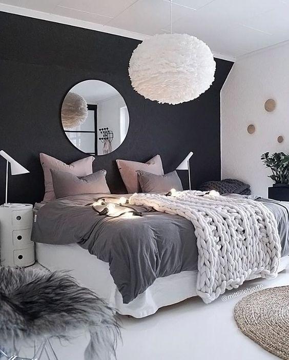 bold black bedroom