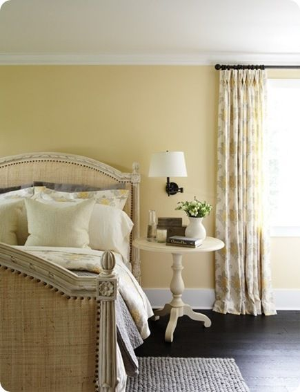 creamy yellow bedroom