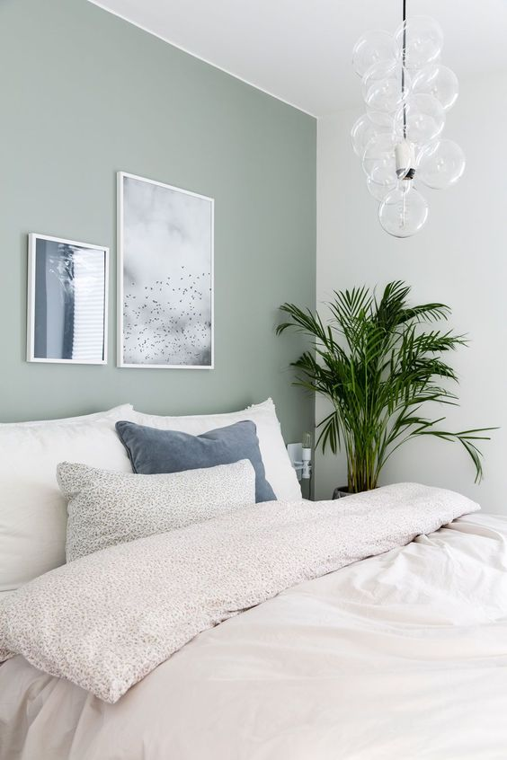 minty green bedroom wall color