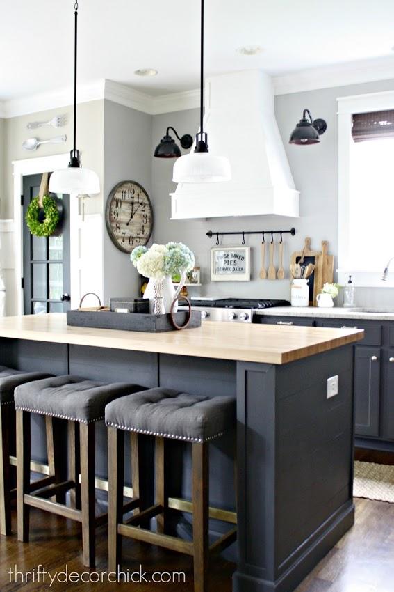 dark gray color in kitchen