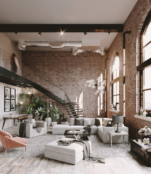 Loft With Brick Walls