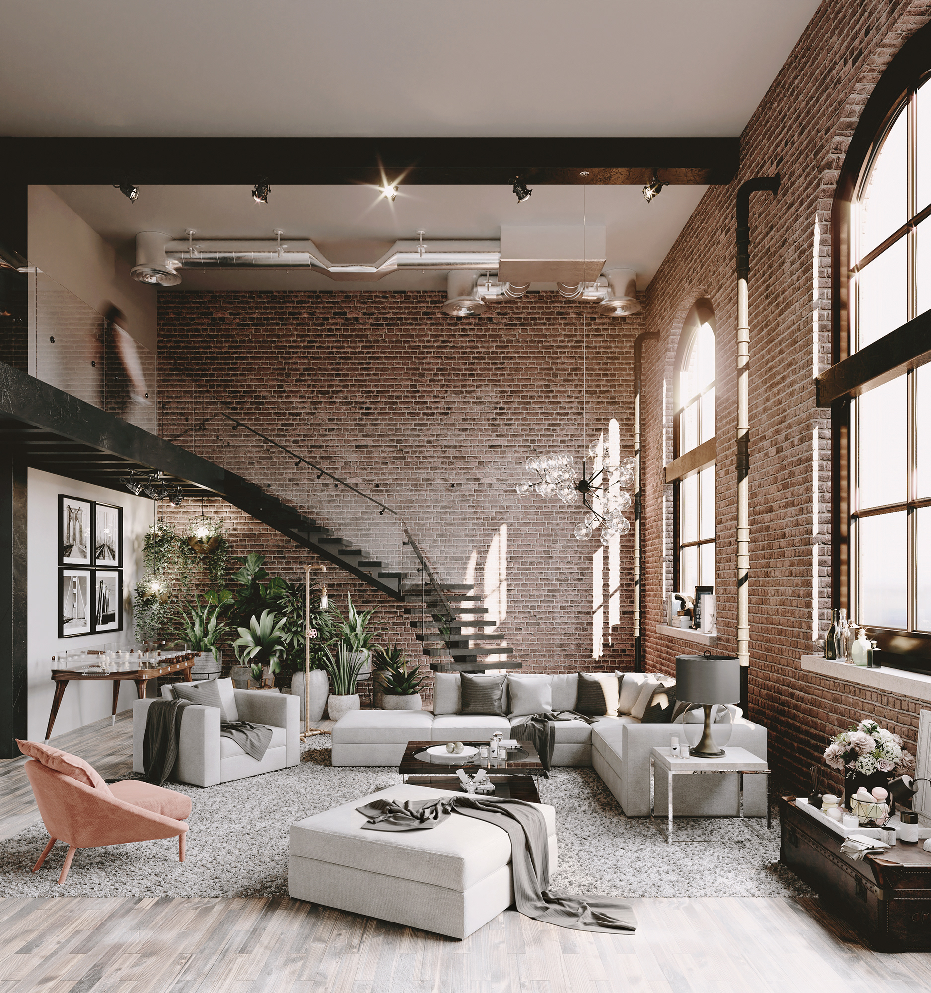 This Loft With Brick Walls Will Amaze You Decoholic