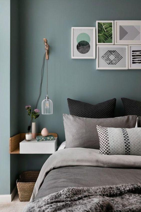 sage green bedroom