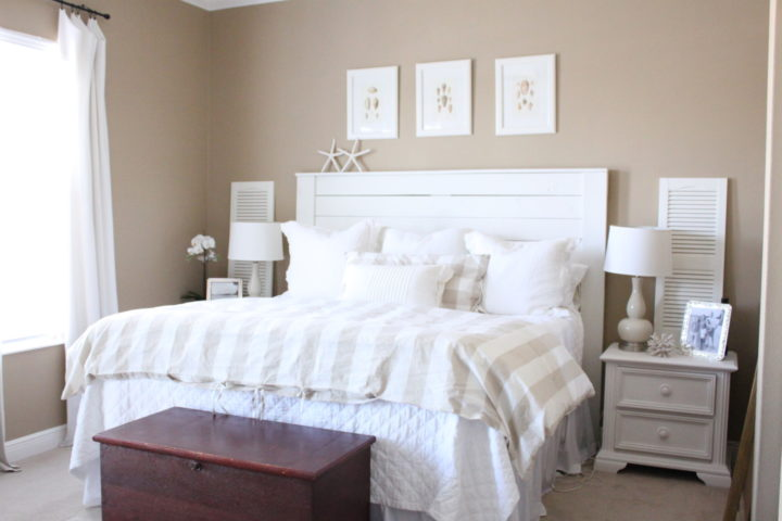 white and sand color for your bedroom