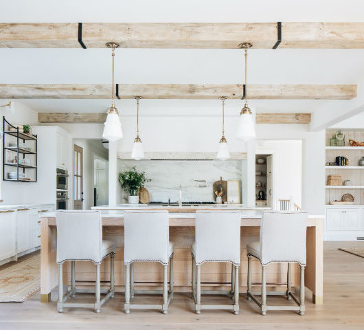 transitional white kitchen design